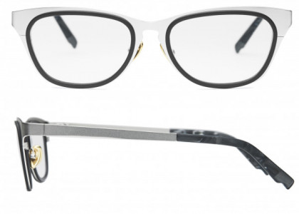 Coco and Breezy Coco and Breezy August Eyeglasses, 103 Mat Silver-Black