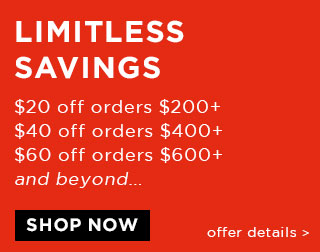 Limitless Savings: $20 off every $200 spent